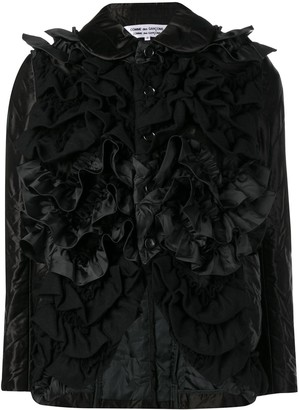Comme des Garcons fitted ruffled jacket
