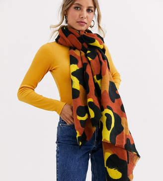 Stitch & Pieces Exclusive bright leopard scarf-Multi