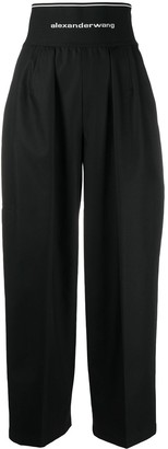 Alexander Wang Super High-Rise Wide-Leg Zoot Trousers