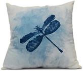 "Dragonfly Summer, Animal Print Pillow, Blue, 16""x16"""