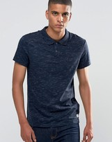 Esprit Slub Polo Shirt in Slim Fit