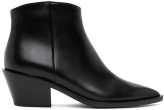 Gianvito Rossi Black Zippered Ankle Boots