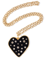 Edie Parker Small Heart with Semi-Precious Stones