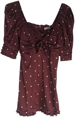 For Love & Lemons Burgundy Synthetic Dresses