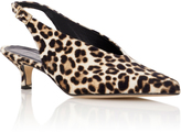 Tibi Lia Leopard-Print Calf Hair Slingback Pumps