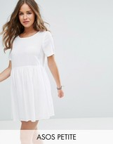 Asos Casual Smock Dress in Grid Texture