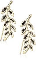 Rachel Roy Womens Leaf Crawler Earrings