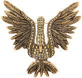 Lanvin stone embellished swan brooch