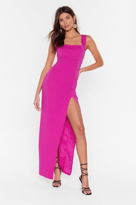 Nasty Gal Womens Square With Me Maxi Dress - Pink - 4, Pink