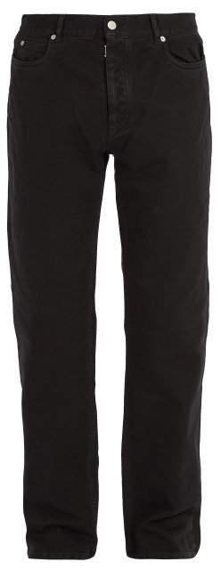 Maison Margiela Straight Leg Jeans - Mens - Black
