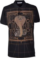 Givenchy Cobra Print Polo Shirt