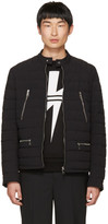 Neil Barrett Black Quilted Nylon Sport Jacket