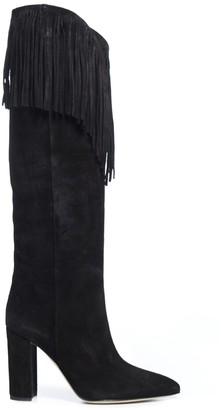 Paris Texas Knee-Length Fringed Boots