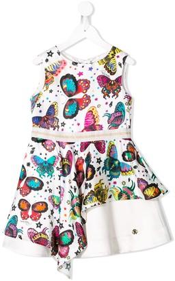 Roberto Cavalli Junior Butterfly Print Dress