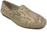 C Label Tan Rome Snake-Print Loafer