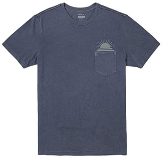 RVCA Dawned Short Sleeve (Moody Blue) Men's Clothing