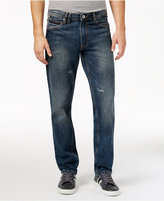 Sean John Men's Bedford Classic Straight Jeans with Diagonal Seam Pockets
