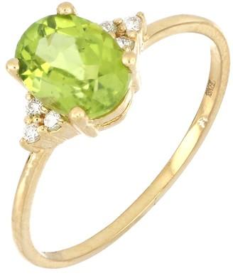 Bony Levy 18K Gold Peridot & Diamond Ring