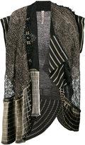 Antonio Marras embroidered sleeveless jacket - women - Cotton/Linen/Flax/Polyester/Viscose - S