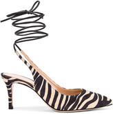 Gianvito Rossi Strappy Kitten Heel Pumps in Zebra & Black | FWRD