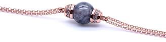 Jadeite Atelier Eden Bracelet In Black Jade With Rose Gold Finish