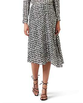 David Lawrence Burnout Square Midi Skirt