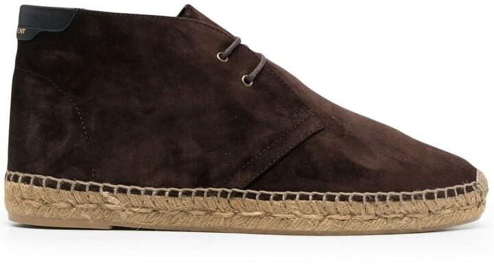 Saint Laurent Lace-Up Espadrille Ankle Boots