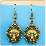 Nobrand No brand Simple Vintage Lion Head Charm Dangle Earring, Charming Drop Earring