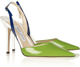 Volt color-block patent-leather slingbacks