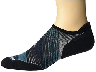 Smartwool PhD(r) Run Light Elite Circuit Board Print Micro (Capri) Men's Crew Cut Socks Shoes