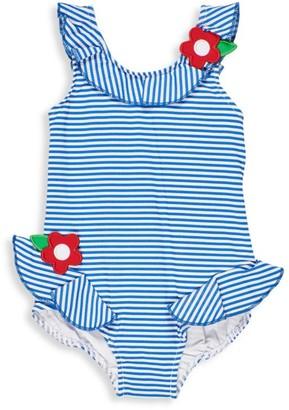 Florence Eiseman Little Girl's One-Piece Flower Seersucker Ruffled Swimsuit