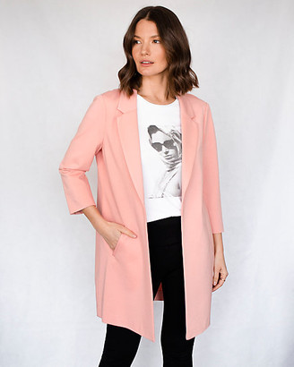 Le Château Ponte Knit Notch Collar Relaxed Fit Blazer