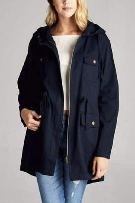 Active Basic Hooded Utility Jacket