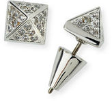 Eddie Borgo Pavé Crystal Pyramid Stud Earrings