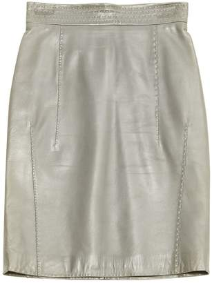 Malo Grey Leather Skirts