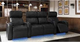 Home Theater Row Seating with Chaise Footrest (Row of 4) Latitude Run Body Fabric: Ultra Camel