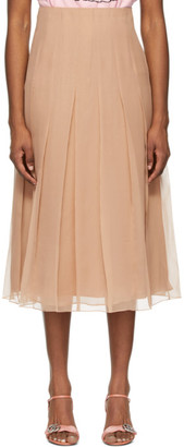 Gucci Pink Silk Chiffon Mid-Length Skirt
