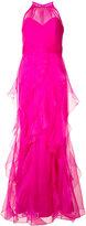 Badgley Mischka layered maxi gown