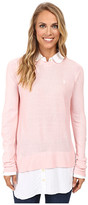 U.S. Polo Assn. Solid Tunic Twofer Sweater Top