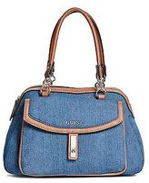 GUESS Women's Kendale Denim Satchel