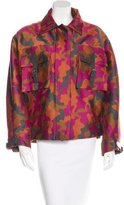 Christopher Kane Camouflage Wool & Silk-Blend Jacket