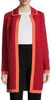 M Missoni Women's Textured Spread Collar Coat