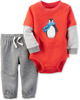 Carter's 2-Pc. Layered-Look Penguin Bodysuit & Pants Set, Baby Boys (0-24 months)