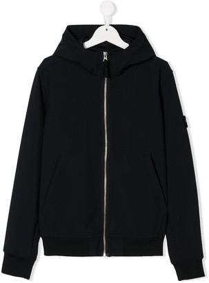 Stone Island Junior TEEN logo patch hooded jacket