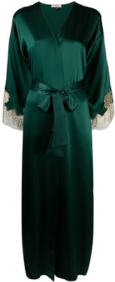 Gilda & Pearl silk Gina long robe