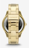 Express Pave Embellished Analog Bracelet Watch
