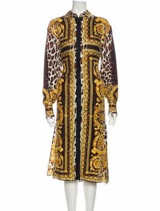 Versace 2018 Midi Length Dress Gold