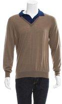 Bottega Veneta Contrast Wool Polo Sweater