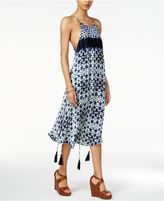 Astr Delfina Printed Tasseled Dress