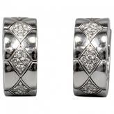 Chanel Matelassé white gold earrings